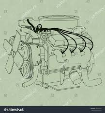 car engine diagram generic car engine diagram on green stock