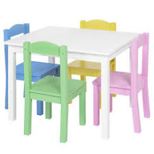 White Kids Table And Chair Set - kids wooden table and chairs