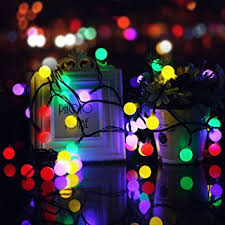 color changing solar string lights 23ft 50 led solar ball string lights keeda waterproof color