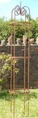 garden obelisks garden obelisk round top obelisk metal garden