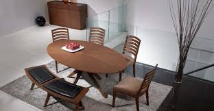 modern oval dining tables oval dining table in walnut wood article conan modern furniture