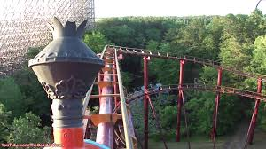 New York Six Flags Great Adventure Runaway Mine Train Front Seat Pov Six Flags Great Adventure Roller