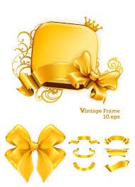 gold ribbons gold ribbons vector vector graphics