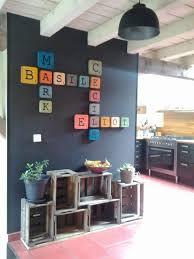 lettre decorative pour chambre b lettres rétros scrabble en bois salons decoration and house