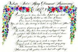 60th wedding anniversary poems calligraphy design poems