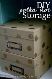 Diy Storage Box by Diy Glitter Polka Dot Storage Boxes Gav Ro