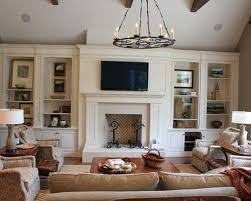 Family Room Built In Houzz - Family room design with tv