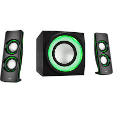 bluetooth party speakers with lights cyber acoustics 2 1 bluetooth lighted party speakers w multi