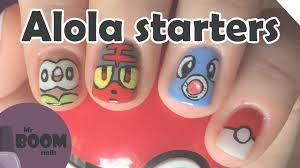 alola starter pokémon nails pokémon sun u0026 moon youtube