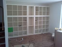 using ikea wall units and bookshelf wall generva