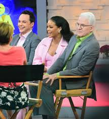 rihanna on good morning america to promote home with steve martin