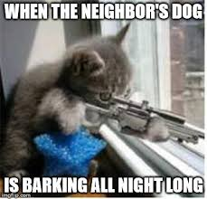 Dog Barking Meme - cats with guns imgflip