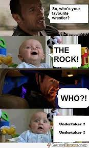 The Rock Meme Car - baby s favorite wrestler
