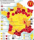 Le maillage de la France par McDonald's - L'