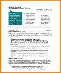 sample resumes for marketing no work experience marketing