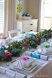 and silver table decorations with