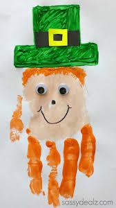Halloween Hat Craft by Leprechaun Handprint Craft For Kids St Patricks Day Idea
