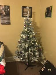 the brown christmas tree time pre lit 6 alpine fir artificial christmas tree
