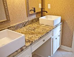 Neptune Bordeaux Granite Bathroom Vanity Top With Square Vessel - Elements 36 inch granite top single sink bathroom vanity