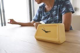 modern yellow clock table clock desk clock ceramic clock