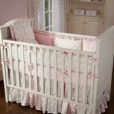 Damask Crib Bedding Sets Pink And Gray Damask Crib Bedding Larger Sets Baby 7c Wonderful