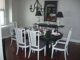 black table white chairs painting black table white chairs decorating kitchen dining