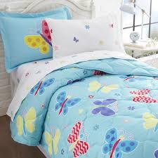 Kids Twin Bed 5 Pc Kids Twin Bed In A Bag Butterfly Garden Olive Kids