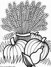 coloring page thanksgiving basket cornucopia coloring pages