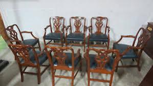 baker dining room chairs baker dining room chairs mahogany chippendale arm chairs rare ebay