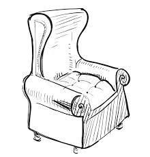 Cartoon Armchair Old Leather Armchair Stock Photos Image 33305993