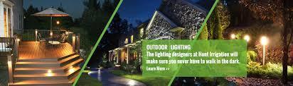 hunt irrigation lawn sprinklers and landscape lighting in