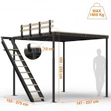 loft bed t8 with lateral stairs tecrostar com
