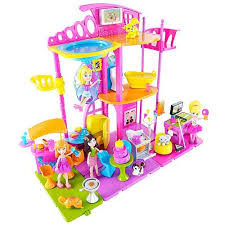 polly pocket stick play room playset case mattel polly