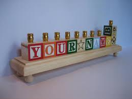 children s menorah personalized children s alphabet block chanukah menorah hanukkah