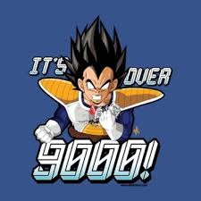 Its Over 9000 Meme - teenormous t shirts the power level of these tees is over 9000