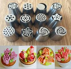 How To Decorate Stainless Steel Aliexpress Com Buy 12pcs Lot Russian Tulip Stainless Steel Icing