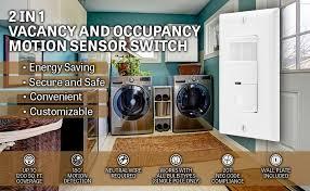 Motion Sensor Bathroom Light Motion Detector Light Switch In Wall Sensor Switch Occupancy