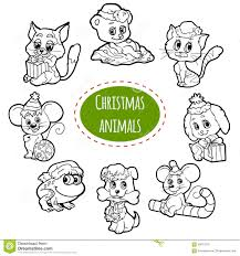 set with cute winter animals stock vector image 80972396