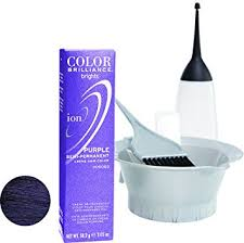 ion haircolor pucs ion color brilliance semi permanent brights hair color purple by