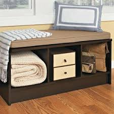 Wood Bench With Storage Amazon Com Closetmaid 1569 Cubeicals 3 Cube Storage Bench White