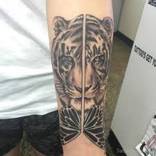 tiger tattoos designs pictures ears back roaring