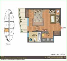 1 bhk floor plan nimbus the golden palms floor plan