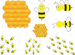 cartoon bees and honeycomb vector clipart image 34742 u2013 rfclipart