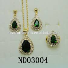 green color necklace set images Latest top design jodha akbar jewelry set big green stone mico jpg