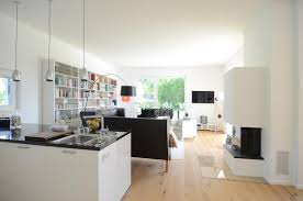 küche im wohnzimmer wohnzimmer mit offener küche gestalten gemütlich auf ideen in