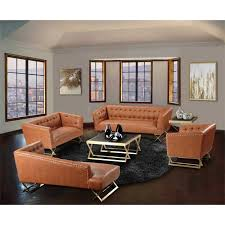 modern table ls for living room jasper modern sofa in gold matte finish with chestnut boulevard