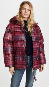 hilfiger collection tartan short down coat shopbop save up to 30