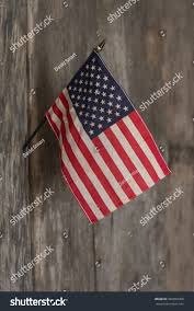 American Flag Wall Hanging Small American Flag Hanging Wall Old Stock Photo 360894368