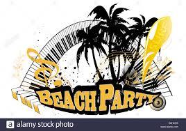 Dancing Flags Beach Dance Party Palm Trees Music Music Key Notes Beach