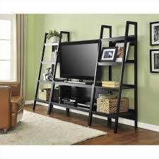 Oak Ladder Bookcase by Ladder Shelf Tv Stand Amiphi Info
